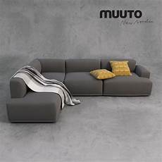 muuto sofa and accessories 3d cgtrader