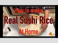 How to make really tasty sushi rice. Make sushi rice with