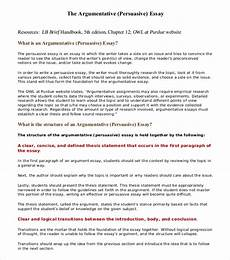 Sample Of Argument Essay 8 Argumentative Essay Examples Free Amp Premium Templates