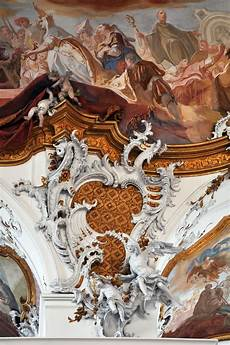 integrated rococo carving stucco and fresco at zwiefalten