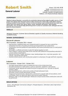 Resume Examples For Laborer Laborer Resume Samples Qwikresume