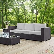 convene modular rattan outdoor patio sofa w cushions