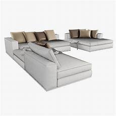 Modular Sofa Sectionals 3d Image by Hamilton Modular Sofas 3d Model Max Obj Cgtrader