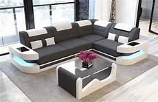 denver fabric modern sofa stof leather mix