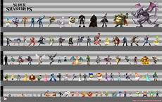 Super Smash Bros Character Chart Super Smash Bros Height Chart Smashbros