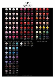 Color Gels Color Chart Gelcolor By Opi Opi Gel Nail Colors Opi Gel Nails Opi