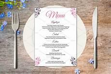 Sample Menu Cards Wedding Menu Card Template Stationery Templates