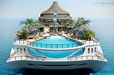 Tropical Island Paradise Concept Tropical Island Paradise Superyacht Has A Volcano