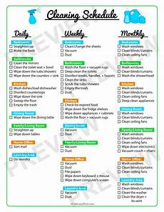 Daily Weekly Monthly Cleaning Keep Your Home Clean With A Printable Cleaning Schedule