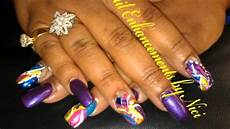 Pang Nail Design Nail Enhancements By Nici Freestyle Nail Designs Youtube