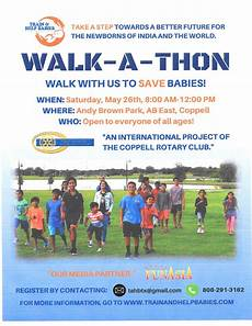 Walk A Thon Posters Stories Coppell Rotary Club
