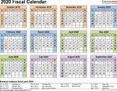 2020 16 Year Calendar Fiscal Calendars 2020 Free Printable Pdf Templates