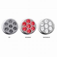 Dual Revolution Lights Trux Dual Revolution 2 Inch Round Led Light Red White 4