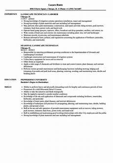 Resume For Landscaping Resume For Landscaping Job Resume Sample
