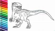 drawing and coloring indoraptor from jurassic world how