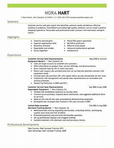 Live Career Customer Service Best Customer Service Representatives Resume Example