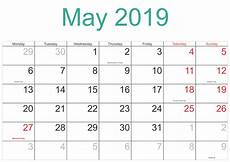 Calendars Printable Free Printable May 2019 Calendar In Pdf Magic Calendar