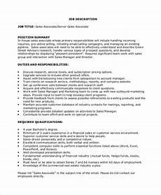 Gnc Sales Associate Duties Sample Sales Associate Job Dutie 6 Documents In Pdf