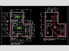 Toilet Plan Detail DWG File Free Download   Autocad DWG   Plan n Design