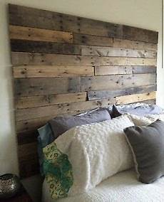 Diy Headboards For King Size Beds King Size Bed Reclaimed Pallet Wood Diy Rustic Headboard