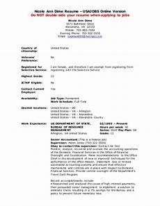 Resume Usa Template Usa Jobs Resume Builder Example
