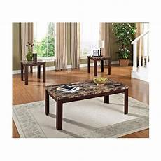 Cf Furniture Living Room 3 Set L Table by Cherry 3 Coffee And End Table Set Living