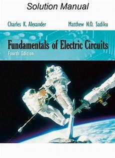 Fundamentals Of Electric Circuits Solutions Manual 4th