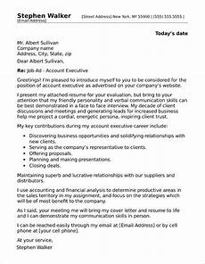 Executive Position Cover Letters Account Executive Cover Letter Sample