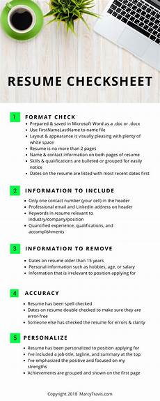Personalized Resumes Resume And Cover Letter Checklist