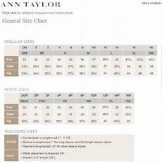 Taylor Loft Size Chart 19 Images Taylor Loft Size Chart