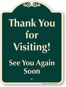 Thank You For The Visit Signature Visitor Parking Signs Myparkingsign