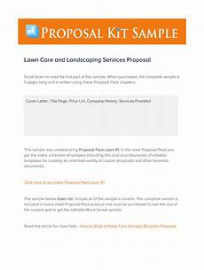 Lawn Care Proposal Template Sample Lawn Care Proposal Letter Fill Online Printable