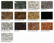 Granite Color Chart Stone Color Chart Brimer Monument