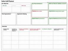 Call Schedule Template Sales Call Planner Tool
