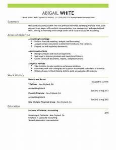 Resume For Accounting Internship Best Training Internship Resume Example Livecareer