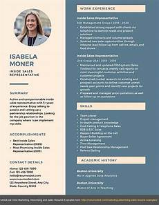 modern sales resume 2020 inside sales representative resume samples amp templates