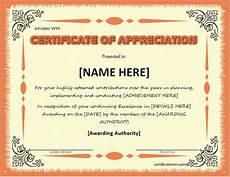 Certificate Of Apreciation Certificates Of Appreciation Templates For Word