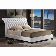 Modern Headboard Jazmin Tufted White Modern Bed With Upholstered Headboard