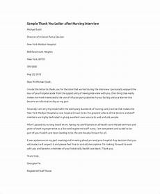 Thank You Letter After Nursing Interview Free 9 Sample Thank You For The Interview Letter