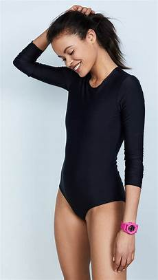 sleeve swimsuit lyst cover sleeve swimsuit in black
