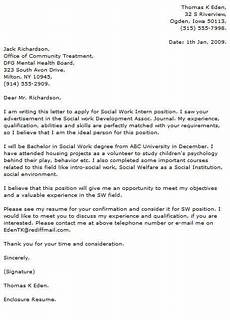 Cover Letter Mental Health Worker Professional Social Worker Cover Letter Examples Resume Now