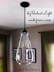 diy pendant light made from a vase diy home decor diy