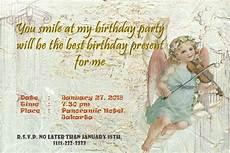 contoh surat undangan ulang tahun bahasa inggris