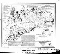 Fishers Island Sound Nautical Chart Fishers Island Sound 1947 Old Map Nautical Chart Ac