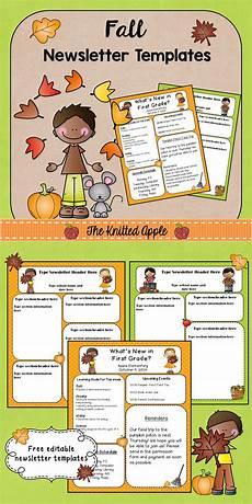 Fall Letters Template Fall Newsletter Templates Freebie Preschool Newsletter