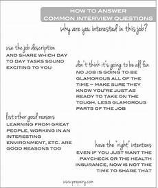 Interest Interview Questions Common Interview Question Why Are You Interested In This