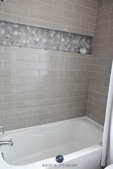 subway tile bathroom ideas bathroom with bathtub and gray subway tile shower surround