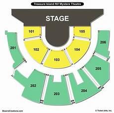 Treasure Island Theater Seating Chart Treasure Island Mystere Theater Seating Chart Seating