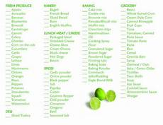 Normal Grocery List Typical Grocery List Grocery List Template
