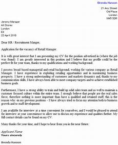 Cover Letter Retail Examples Retail Cover Letter Example Icover Org Uk